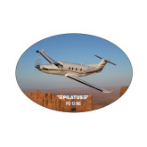 Small Decal-PC-12 NG Over Block Mtns