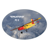 Extra Large Decal-PC-6 Over Snowy Mountains