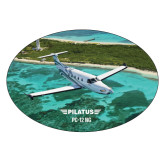 Extra Large Decal-PC-12 NG Island Shore