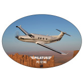 Super Large Decal-PC-12 NG Over Block Mtns