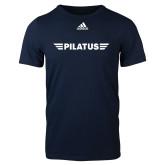 Adidas Navy Logo T Shirt-