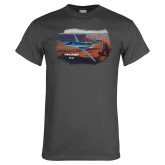 Charcoal T Shirt-PC-24 Rough Block Mtns