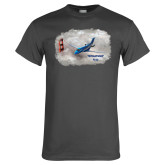 Charcoal T Shirt-PC-24 Clouded Bridge