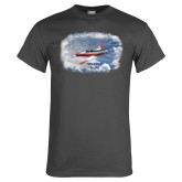Charcoal T Shirt-PC-7 MKII Over Clouds