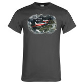 Charcoal T Shirt-PC-7 MKII 2 Aircrafts Over Green Terrain