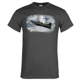 Charcoal T Shirt-PC-9 M Over Mtn Terrain
