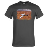 Charcoal T Shirt-PC-12 NG Over Brown Fold Mtns