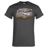 Charcoal T Shirt-PC-12 NG City Lake View