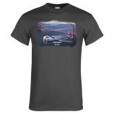 Charcoal T Shirt-PC-12 NG Bridge View