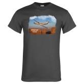 Charcoal T Shirt-PC-12 NG Over Block Mtns