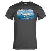 Charcoal T Shirt-PC-12 NG Ocean View