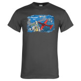 Charcoal T Shirt-PC-21 City Bridge View