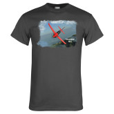 Charcoal T Shirt-PC-21 Mountain Shore