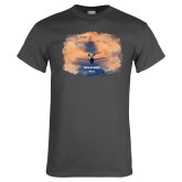 Charcoal T Shirt-PC-24 Sunset On Clouds