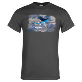 Charcoal T Shirt-PC-24 On Top of Clouds