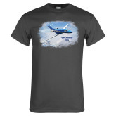 Charcoal T Shirt-PC-24 Over Snowy Mtns