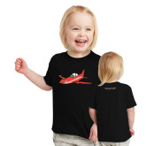 Toddler Black T Shirt-PC-21 Illustration