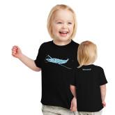 Toddler Black T Shirt-PC-12 Blue