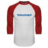 White/Red Raglan Baseball T Shirt-Pilatus