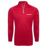 Under Armour Red Tech 1/4 Zip Performance Shirt-