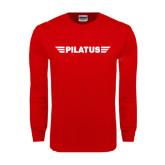 Red Long Sleeve T Shirt-
