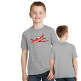 Youth Grey T-Shirt-PC-21 Illustration
