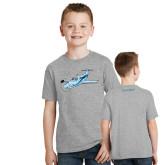 Youth Grey T-Shirt-PC-12 Illustration