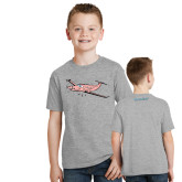 Youth Grey T-Shirt-PC-12 Pink
