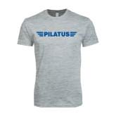 Next Level SoftStyle Heather Grey T Shirt-Pilatus