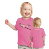 Toddler Fuchsia T Shirt-PC-12 Pink
