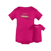 Fuchsia Infant Onesie-PC-12 Pink Fly Baby