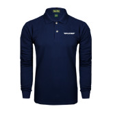 Navy Long Sleeve Polo-Pilatus