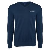 Classic Mens V Neck Navy Sweater-Pilatus