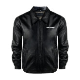 Black Leather Bomber Jacket-Pilatus