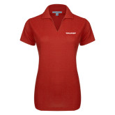 Ladies Red Dry Zone Grid Polo-Pilatus