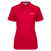 Ladies Easycare Red Pique Polo-Pilatus