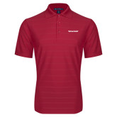 Red Horizontal Textured Polo-Pilatus