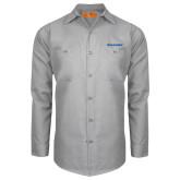 Red Kap Light Grey Long Sleeve Industrial Work Shirt-Pilatus