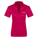 Ladies Pink Raspberry Silk Touch Performance Polo-Pilatus