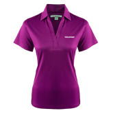 Ladies Purple Performance Fine Jacquard Polo-Pilatus