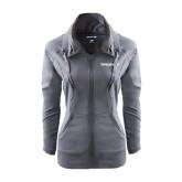 Ladies Sport Wick Stretch Full Zip Charcoal Jacket-Pilatus