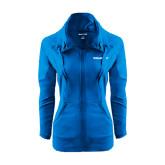 Ladies Sport Wick Stretch Full Zip Sapphire Jacket-Pilatus