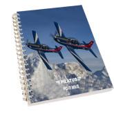 Clear 7 x 10 Spiral Journal Notebook-PC-7 MKIIs over Snow Cliffs