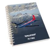 Clear 7 x 10 Spiral Journal Notebook-PC-7 MKII Rocky Terrain