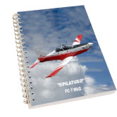 Clear 7 x 10 Spiral Journal Notebook-PC-7 MKII Over Clouds