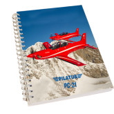 Clear 7 x 10 Spiral Journal Notebook-PC-21 2 Aircrafts Over Snow Cliffs