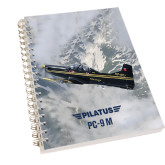 Clear 7 x 10 Spiral Journal Notebook-PC-9 M Over Mtn Terrain