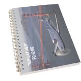 Clear 7 x 10 Spiral Journal Notebook-PC-12 NG Bridge View