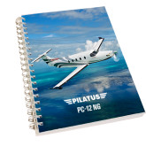 Clear 7 x 10 Spiral Journal Notebook-PC-12 NG Ocean View