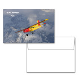 6 1/4 x 4 5/8 Flat Cards w/Blank Envelopes 10/pkg-PC-6 Over Snowy Mountains